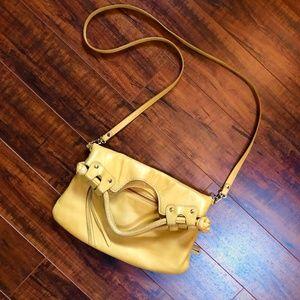 Mustard Gold Handbag Leather Crossbody MSR…